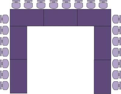 Amenajare-masa-scaune-forma-U