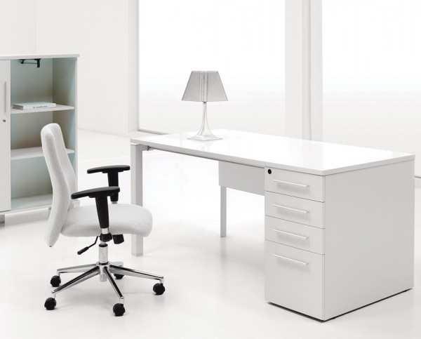 Scaune-office-ergonomic-alb