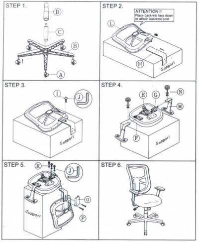 Montaj-scaun-office-instructiuni