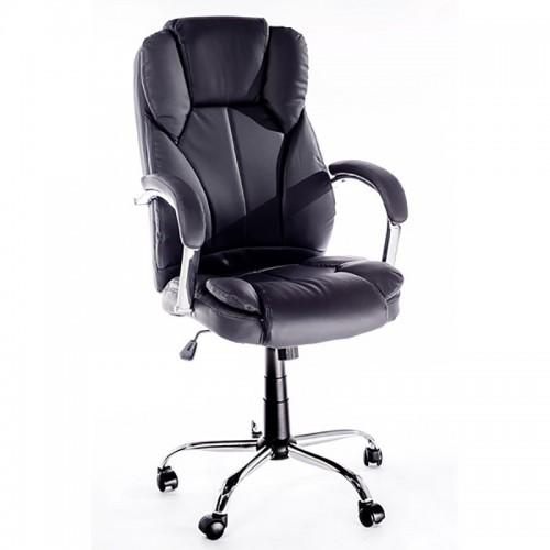 Scaun pentru birou cu manere metalice si baza metalica