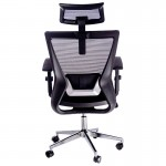 Scaun ergonomic pentru birou cu baza metalica si tetiera