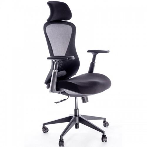 Scaun ergonomic pentru birou cu tetiera si brate reglabile