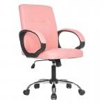 Scaun de birou cu design elegant pe culoarea roz-014
