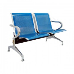 Banca metalica de asteptare cu 2 locuri-albastru