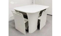 Masa moderna cu scaune ascunse