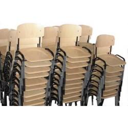 Scaune scolare din lemn