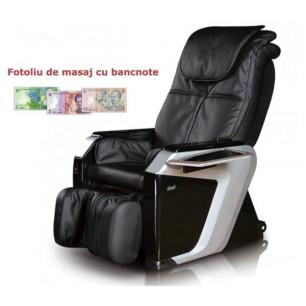 Fotoliu de masaj cu bancnote