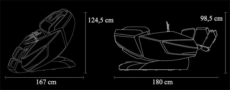 Fotoliu de masaj 4D Zero Gravity cu încălzire la picioare și la spate-Prime-6