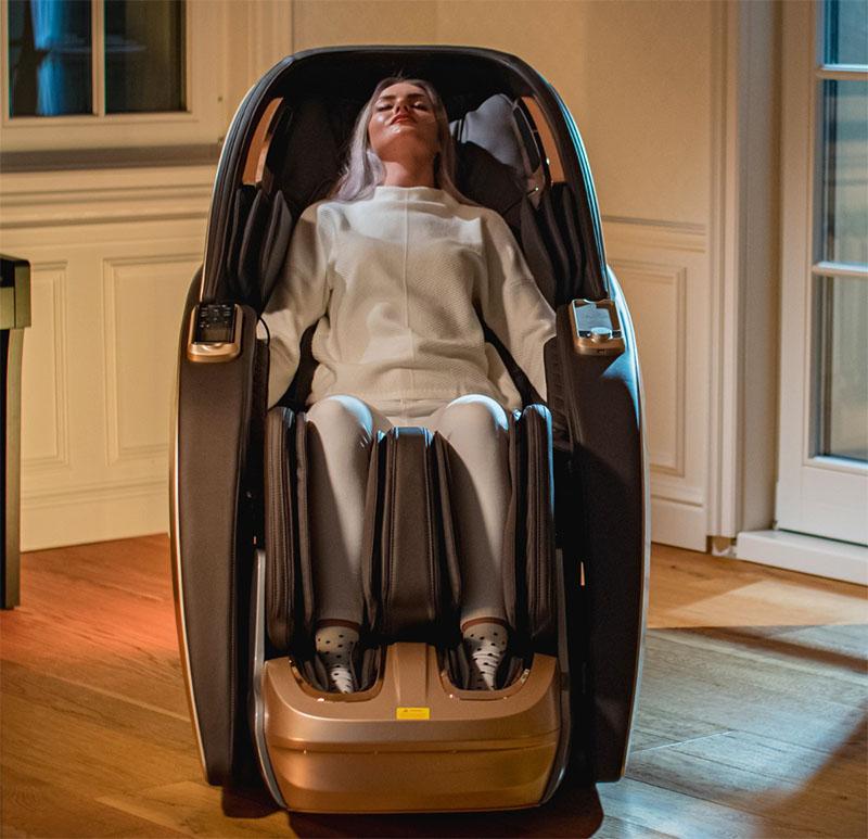 Fotoliu de masaj cu 9 programe automate de masaj și comanda vocală-SUPERIA-automat