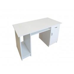 Birou pe culoarea alb cu spatiu pentru unitate PC