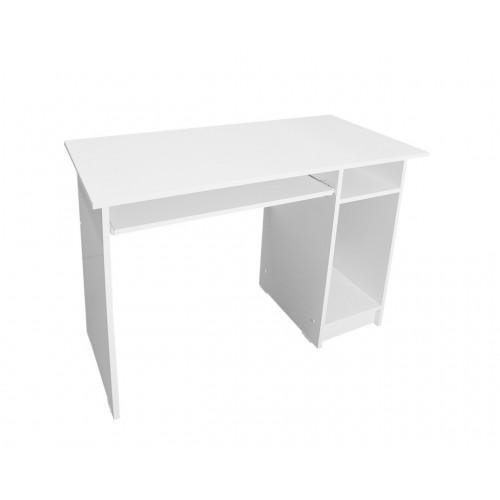 Birou pentru calculator cu suport mobil pentru tastatura-alb