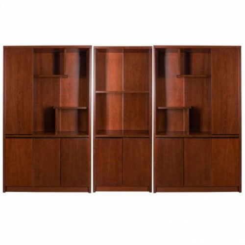 Set dulap biblioraft pentru birou directorial format din 3 piese-1807