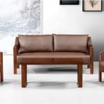 Set canapea si fotolii de birou gama mobilier directorial-maro