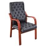 Scaun vizitator confort-mobilier directorial 002-NR