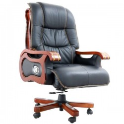Scaun directorial-manager negru mat 7022