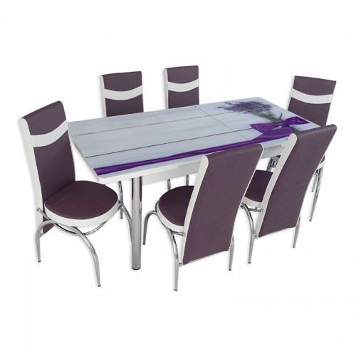Set masa extensibila cu 6 scaune Arta Table Lavanda