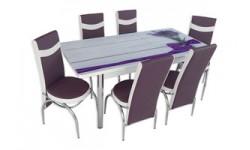 Seturi de mese extensibile cu 4 si 6 scaune-diverse culori