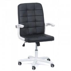 Scaun birou cu brate rabatabile-negru