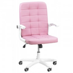 Scaun birou cu brate rabatabile-roz