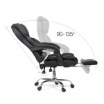 Scaun de birou ergonomic cu spatar rabatbil si suport de picioare