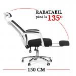 Scaun de birou ergonomic cu suport pentru picioare