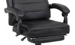 Scaune directoriale cu suport de picioare pe culoarea gri si negru