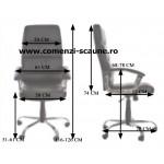 Scaun de birou ergonomic din piele ecologică