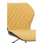 Scaun de birou modern-design elegant galben-negru