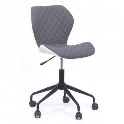 Scaun de birou modern-design elegant gri-alb