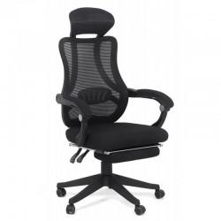 Scaun de birou ergonomic Office 927 din stofa cu suport de picioare