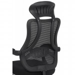 Scaun de birou ergonomic din stofa cu suport de picioare