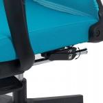 Scaun ergonomic cu spatar rabatabil si suport pentru picioare-albastru SYYT 9502