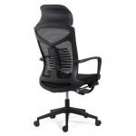 Scaun ergonomic cu spatar rabatabil si suport pentru picioare SYYT 9502 negru