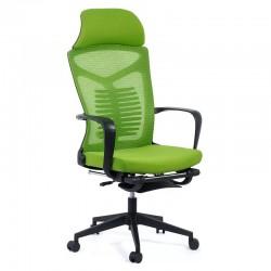 Scaun ergonomic cu spatar rabatabil si suport pentru picioare-verde