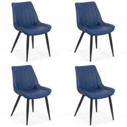 Set 4 scaune bucatraie pe culoarea albastru