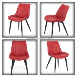Set 4 scaune bucatraie-visiniu