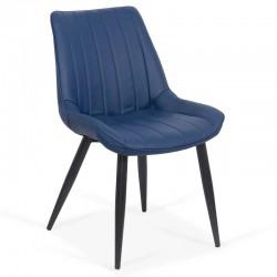 Scaun bucatraie-albastru