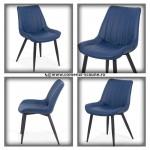 Scaun modern pentru bucătărie și dining-albastru