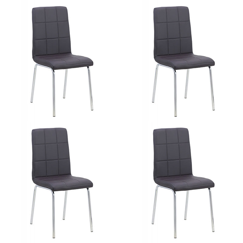 set-4-scaune-de-bucatarie-cadrul-metalic-cromat-maro