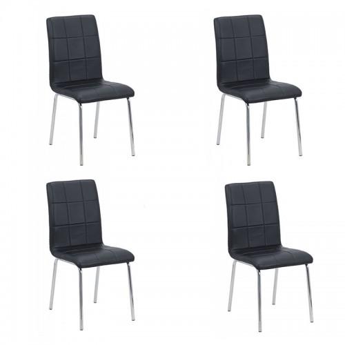 Set 4 scaune de bucătărie piele ecologică