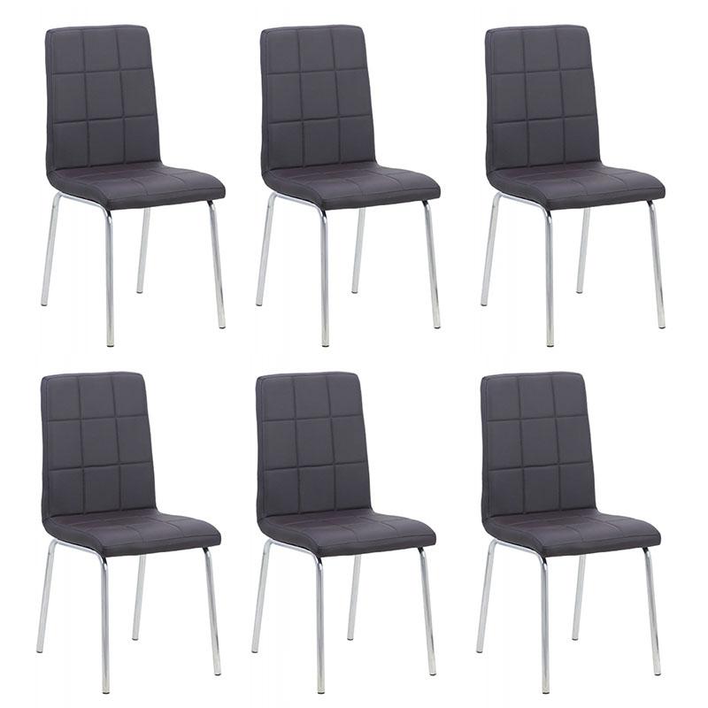 set-6-scaune-de-bucatarie-piele-ecologica-maro
