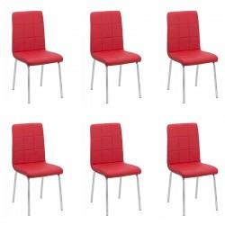 Set 6 scaune bucatarie CS230-rosu