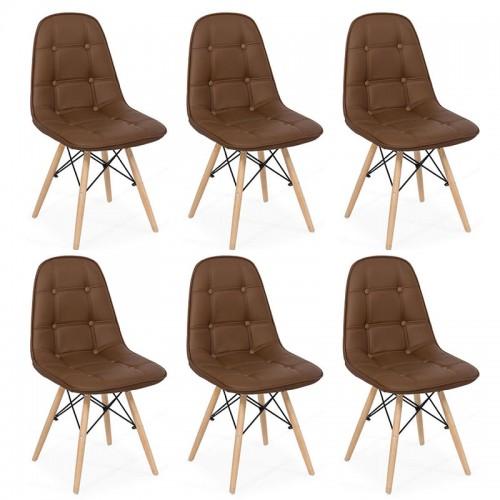 Set 6 scaune living-bucatarie în 9 culori