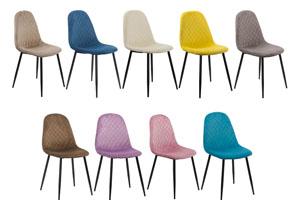 Scaune moderne pentru bucatarie, sufragerie, living din catifea-culori diverse