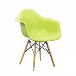 Scaun pentru bucatarie sau living din ABS si lemn