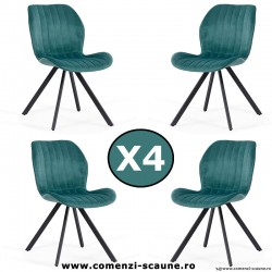 Set 4 scaune de bucatarie si living 248-turcoaz