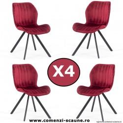 Set 4 scaune de bucatarie si living 248-visiniu
