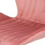 Scaun bucatarie-living din catifea in 3 culori