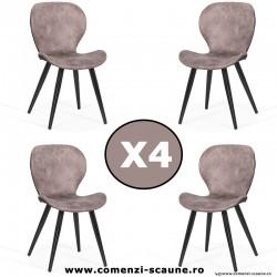 Set 4 scaune de bucatarie si living 249-gri