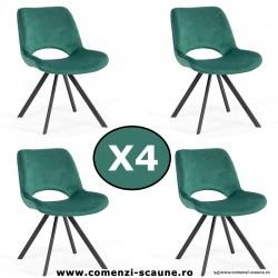 Set 4 scaune de bucatarie si living 250-verde